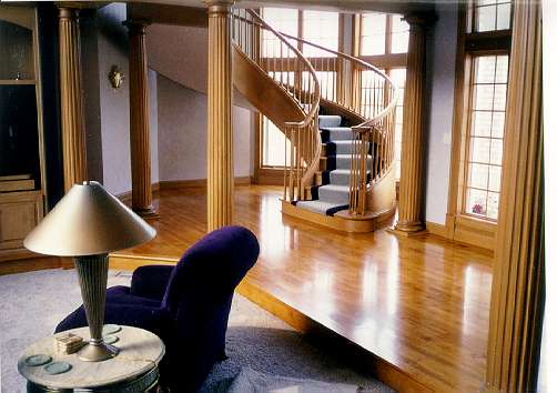 A hardwood staircase custom created for our client